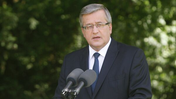 Poland's President Bronislaw Komorowski - Sputnik International