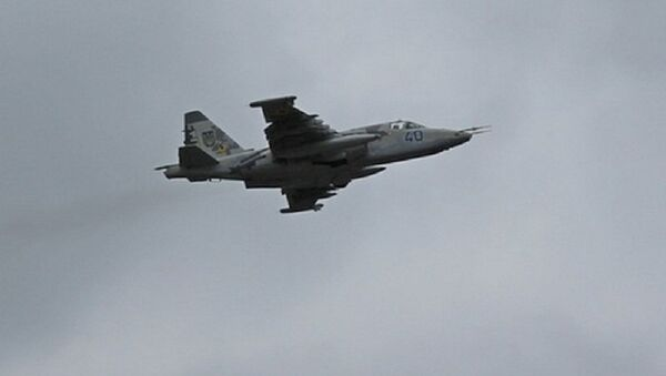 DPR self-defense forces have downed a Ukrainian Air Force Su-25 - Sputnik International