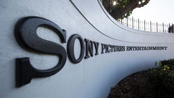 A logo is pictured outside Sony Pictures Studios in Culver City, California December 19, 2014 - Sputnik International