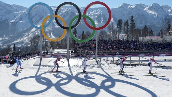 2014 Winter Olympics. Cross country skiing. Women. Skiathlon - Sputnik International