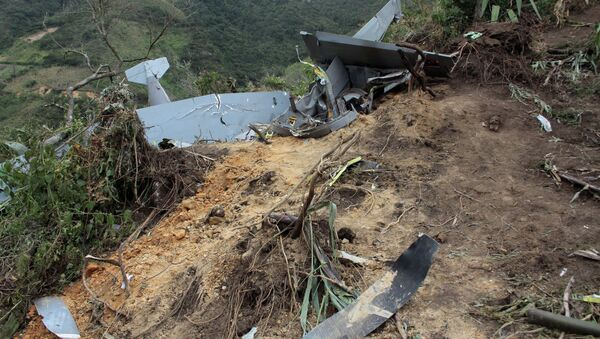 All seven people aboard died when a plane crashed in the Colombian province of Santander, El Tiembo Colombia reported Thursday. - Sputnik International