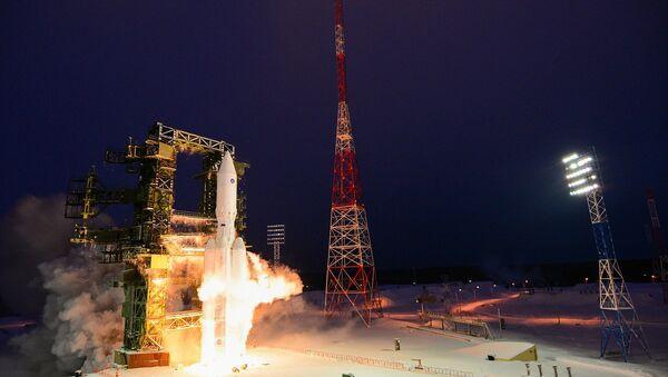 Russia's heavy-lift Angara-A5 rocket before its first orbital launch at the Plesetsk Cosmodrome, Arkhangelsk Region - Sputnik International