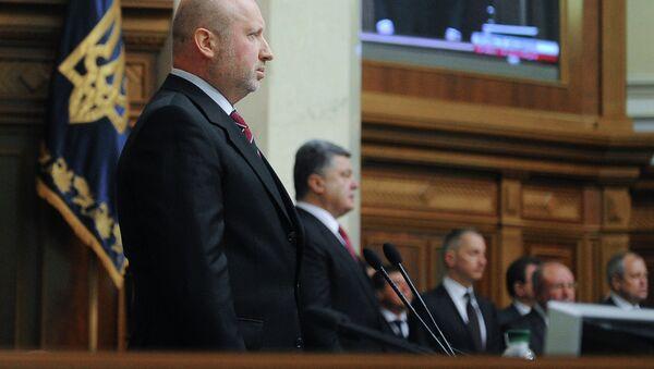 Oleksandr Turchynov and Arseniy Yatsenyuk - Sputnik International