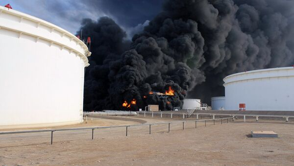 The United Nations Support Mission in Libya (UNSMIL) condemned in a statement renewed attacks on Libya's oil installations by unidentified gunmen and urges the forces on the ground to cooperate in restoring order. - Sputnik International