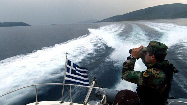 A Greek coast guard  - Sputnik International