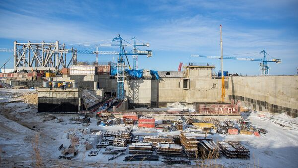 Vostochny Cosmodrome construction site in Amur Region - Sputnik International
