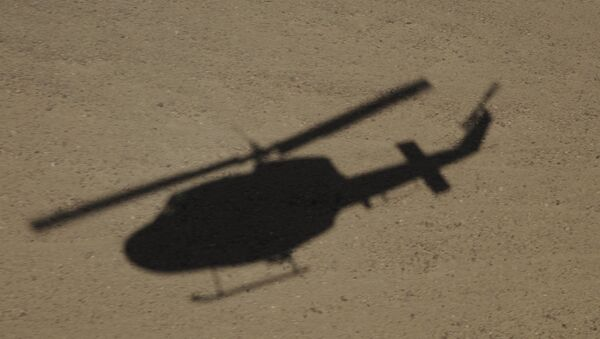Afghanistan-The shadow of an Italian Air Force AB-212 helicopter - Sputnik International