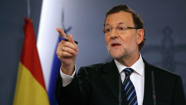 Spanish Prime Minister Mariano Rajoy holds a news conference at Moncloa palace in Madrid November 12, 2014 - Sputnik International