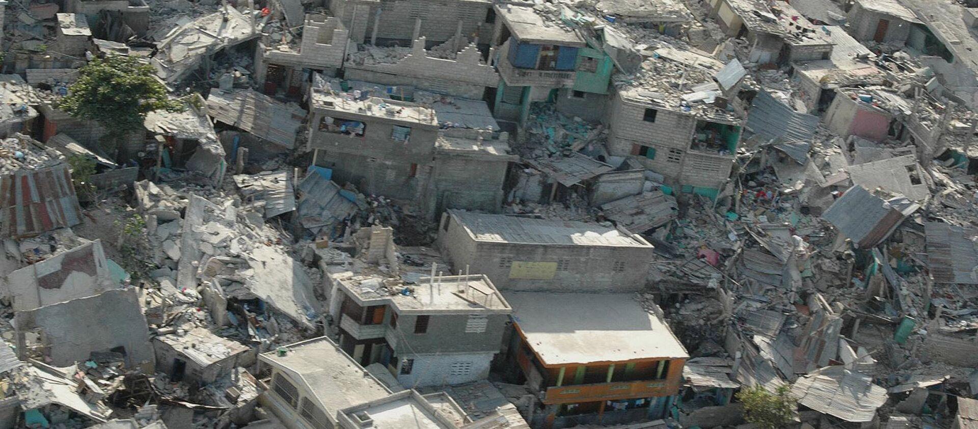 Collapsed buildings following earthquake, in Haiti's capital Port-au-Prince. (File) - Sputnik International, 1920, 14.08.2021
