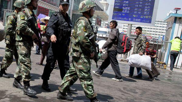 Armed Chinese paramilitary policeme - Sputnik International