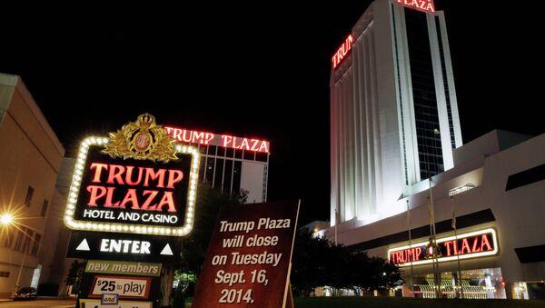 A sign announces the closing of Trump Plaza Hotel & Casino in Atlantic City, N.J - Sputnik International