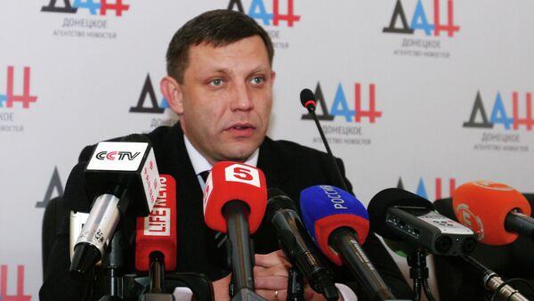 Head of the self-proclaimed Donetsk People's Republic (DPR) Alexander Zakharchenko - Sputnik International