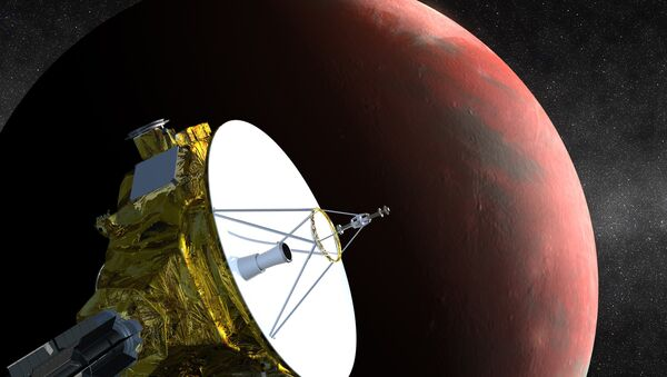 An artist's impression of NASA's New Horizons spacecraft, currently en route to Pluto, is shown in this handout image provided by Science@NASA - Sputnik International
