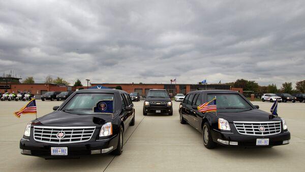 President Barack Obama limousine park at Andrews Air Force Base, Md., on Saturday, Nov. 1, 2014 - Sputnik International