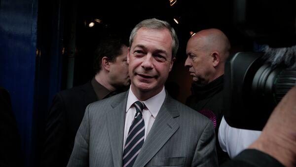 Nigel Farage, the leader of the UK Independence Party (UKIP) - Sputnik International