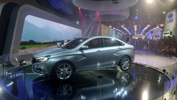 Lada Vesta / Moscow International Automobile Salon 2014 - Sputnik International
