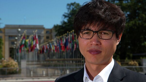 Shin Dong-hyuk poses after an interview with Reuters in Geneva in this June 5, 2013 file photo. - Sputnik International