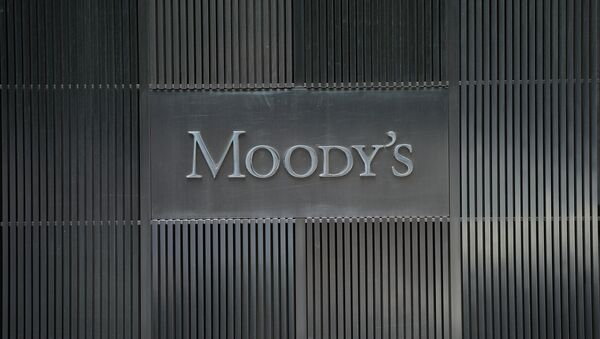 A sign for Moody's rating agency is displayed at the company headquarters in New York - Sputnik International