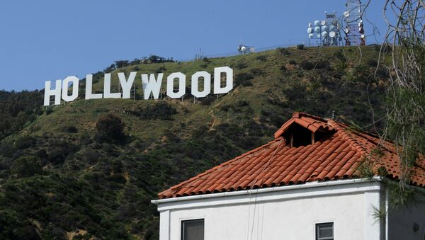 This photo taken on March 24, 2010 shows the iconic Hollywood sign in the hills above Hollywood - Sputnik International