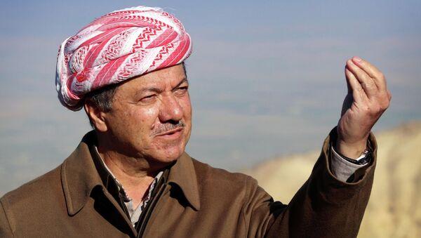 Iraqi Kurdish leader Masoud Barzani speaks to journalists on December 21, 2014 - Sputnik International