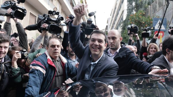 The leader of Greece's left-wing Syriza party Alexis Tsipras - Sputnik International