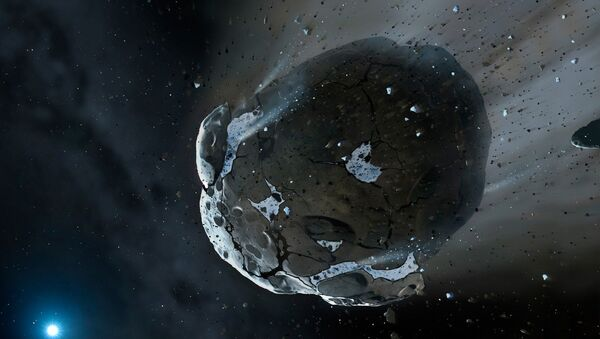 This is an artist's impression of a rocky and water-rich asteroid - Sputnik International