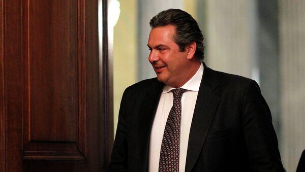 Panos Kammenos leader of the right-wing splinter Independent Greeks party - Sputnik International