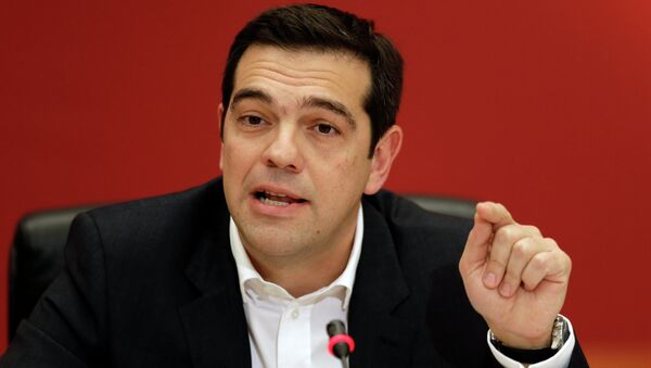 Alexis Tsipras, head of Greece's Syriza left-wing main opposition party - Sputnik International