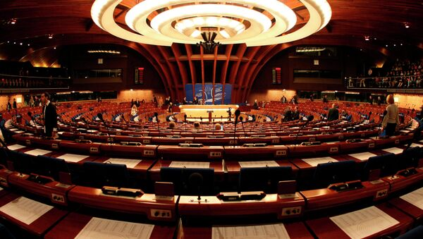 General view of the plenary room of the Council of Europe in Strasbourg, eastern France - Sputnik International