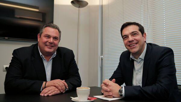 Alexis Tsipras and Panos Kammenos - Sputnik International