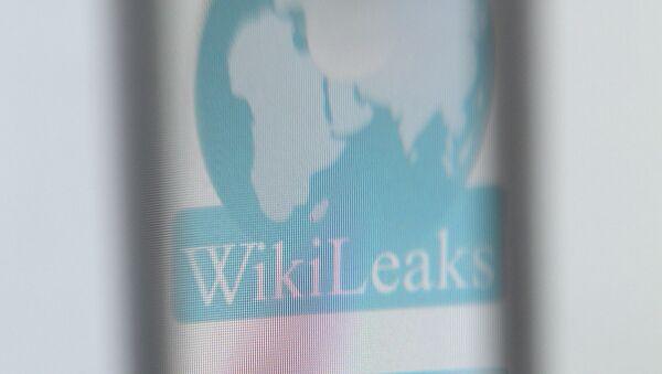 The logo of the website specialised in publishing secret documents WikiLeaks - Sputnik International