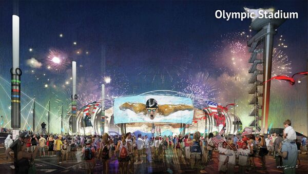 A proposed Olympic Stadium in Boston, Massachusetts is seen in this handout image made available January 21, 2015 by the Boston2024 group, which is organizing Boston's bid to host the 2024 Summer Olympics. - Sputnik International