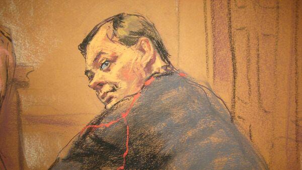 Evgeny Buryakov sits in court in New York, January 26, 2015. - Sputnik International