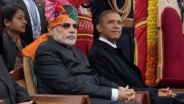 Narendra Modi and President Barack Obama - Sputnik International