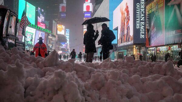 Heavy snowfall in New York - Sputnik International
