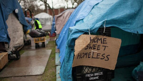 Homeless encampment in Seattle - Sputnik International