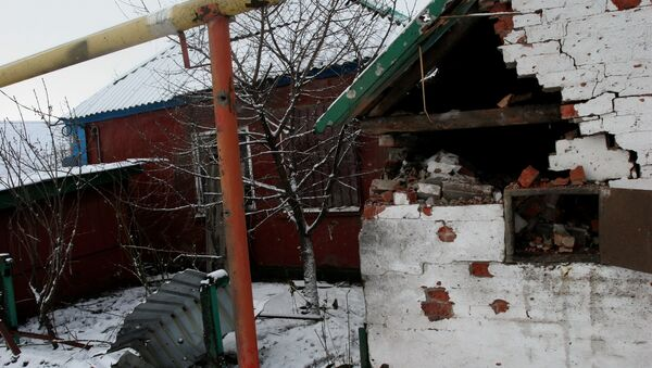 Aftermath of Donetsk shelling by Ukrainian army - Sputnik International