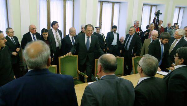 Russian FM Lavrov and Syrian opposition - Sputnik International