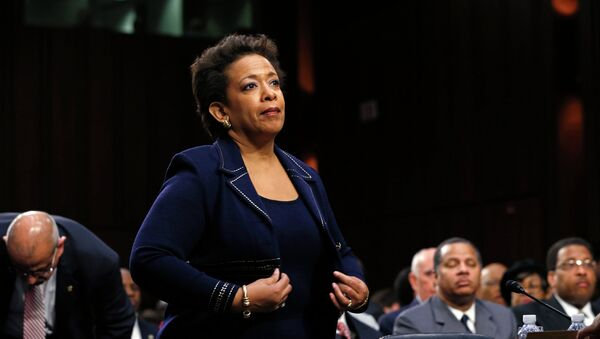 Loretta Lynch takes her seat to testify before a Senate Judiciary Committee confirmation hearing on her nomination to become U.S. attorney general on Capitol Hill in Washington January 28, 2015. - Sputnik International