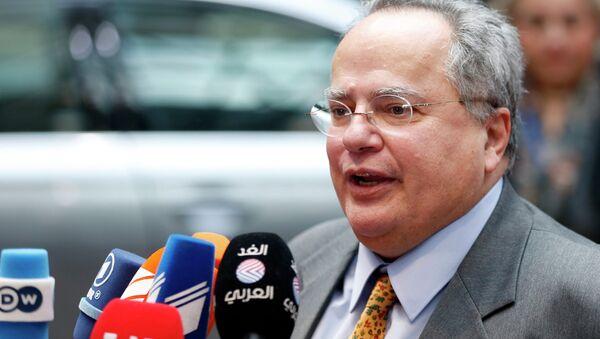 Greek Foreign Minister Nikos Kotzias - Sputnik International