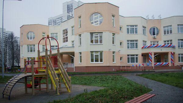 Sergei Sobyanin opens new kindergarten at Kashirskoye Highway - Sputnik International