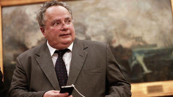 Greece's New Foreign Minister Nikos Kotzias - Sputnik International