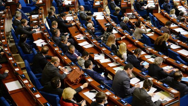 Delegates during a plenary meeting held as part of the winter session of the Parliamentary Assembly of the Council of Europe (PACE) - Sputnik International