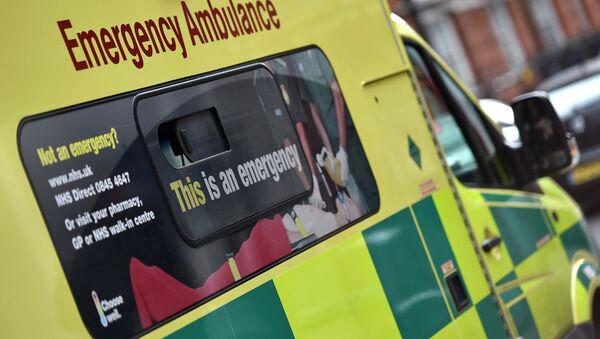 A National Health Service ambulance is seen in central London - Sputnik International