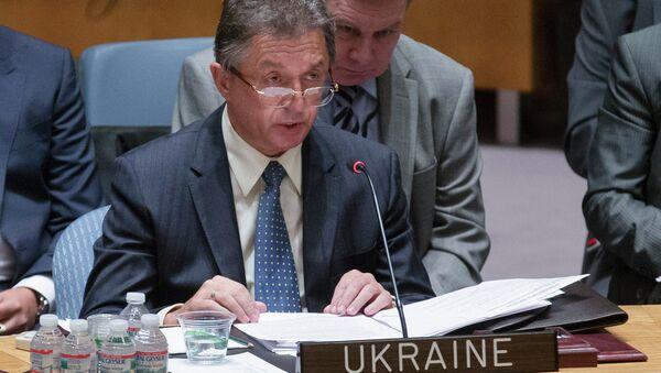 Ukrainian U.N. Ambassador Yuriy Sergeyev speaks during a U.N. Security Council meeting at United Nations headquarters, Friday, July 18, 2014 - Sputnik International
