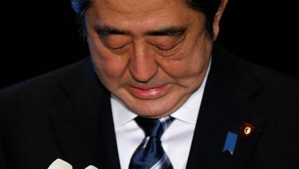 Japan's Prime Minister Shinzo Abe speaks to the media at his official residence in Tokyo February 1, 2015 - Sputnik International
