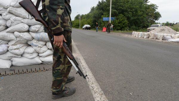 Militia checkpoint in Debaltsevo, Donetsk Region - Sputnik International