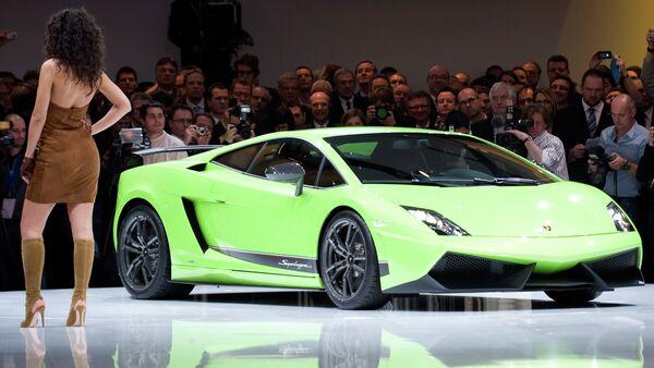 Lamborghini shows the new Gallardo model at the Volkswagen Group event in Geneva - Sputnik International