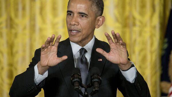 President Barack Obama gestures as he speaks in the East Room of the White House in Washington, Friday, Jan. 30, 2015 - Sputnik International