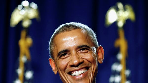 U.S. President Barack Obama smiles as he delivers remarks at the House Democratic Issues Conference in Pennsylvania - Sputnik International